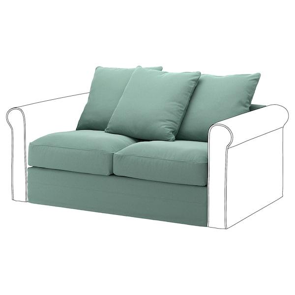 GRÖNLID 2-seat section Ljungen light green 104 cm 68 cm 141 cm 98 cm 7 cm 140 cm 60 cm 49 cm