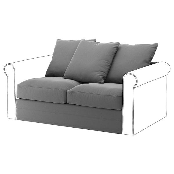 GRÖNLID 2-seat section Ljungen medium grey 104 cm 68 cm 141 cm 98 cm 7 cm 140 cm 60 cm 49 cm