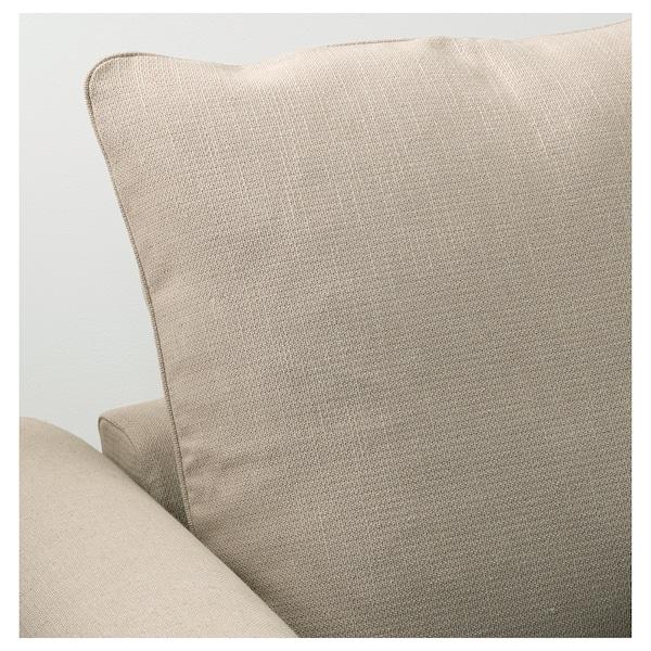 GRÖNLID 3-seat sofa-bed, Sporda natural