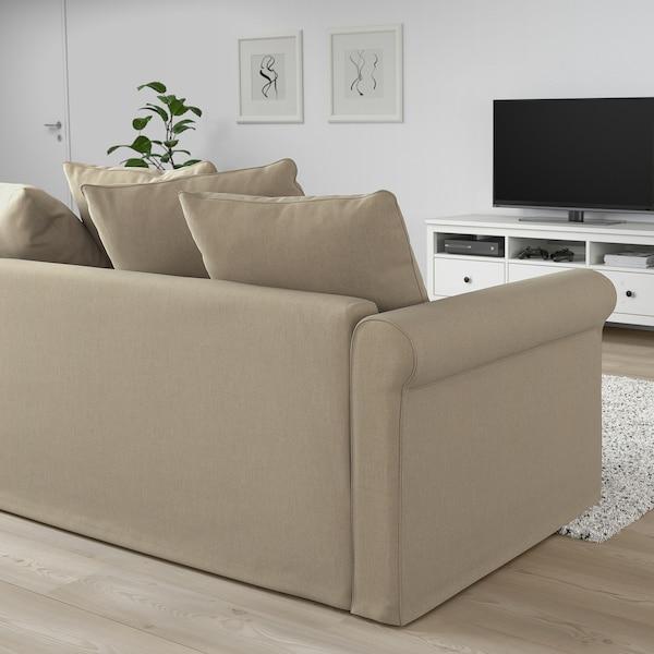 GRÖNLID 3-seat sofa with chaise longue, Sporda natural