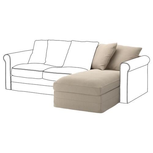 GRÖNLID chaise longue section Sporda natural 104 cm 68 cm 81 cm 164 cm 7 cm 81 cm 126 cm 49 cm 190 l