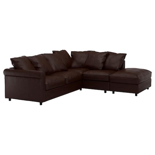 GRÖNLID corner sofa, 4-seat with open end/Kimstad dark brown 104 cm 98 cm 235 cm 252 cm 7 cm 18 cm 68 cm 60 cm 49 cm