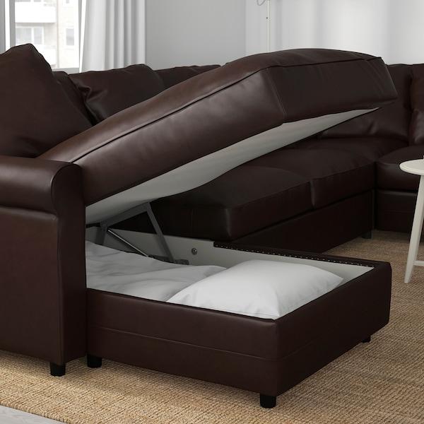 GRÖNLID corner sofa, 5-seat with chaise longue/Kimstad dark brown 104 cm 164 cm 98 cm 126 cm 252 cm 333 cm 7 cm 18 cm 68 cm 60 cm 49 cm