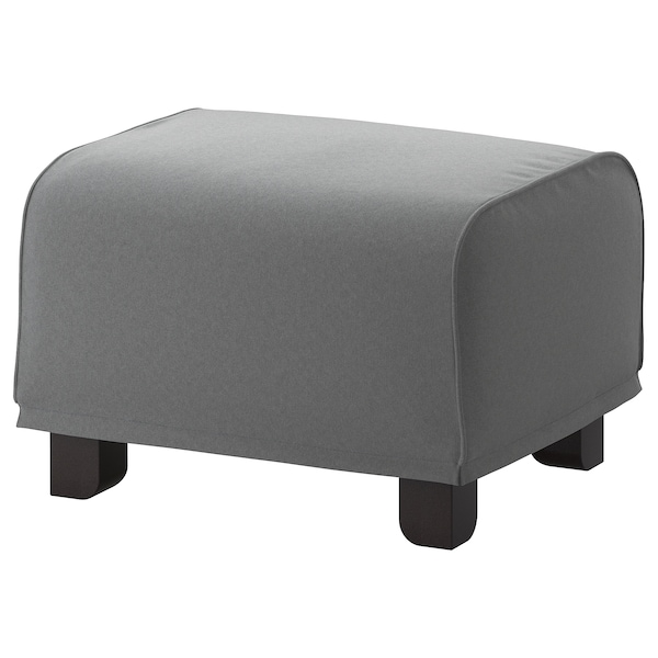 GRÖNLID Cover for footstool, Ljungen medium grey