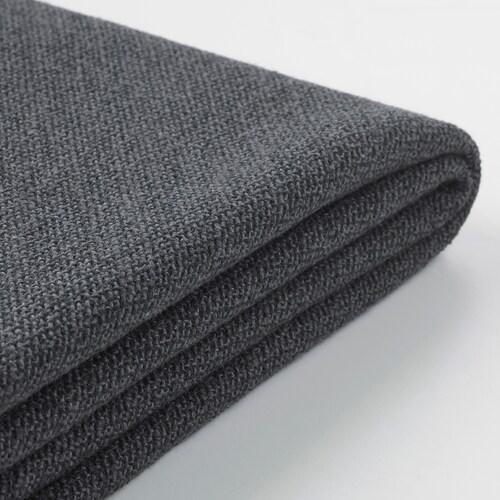 GRÖNLID cover for footstool with storage Sporda dark grey