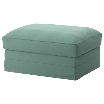 GRÖNLID Footstool with storage, Ljungen light green