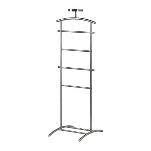 GRUNDTAL Valet stand IKEA Hooks on the sides for belts, ties, scarves or handbags and a tray on top for your watch, jewellery and other small things.