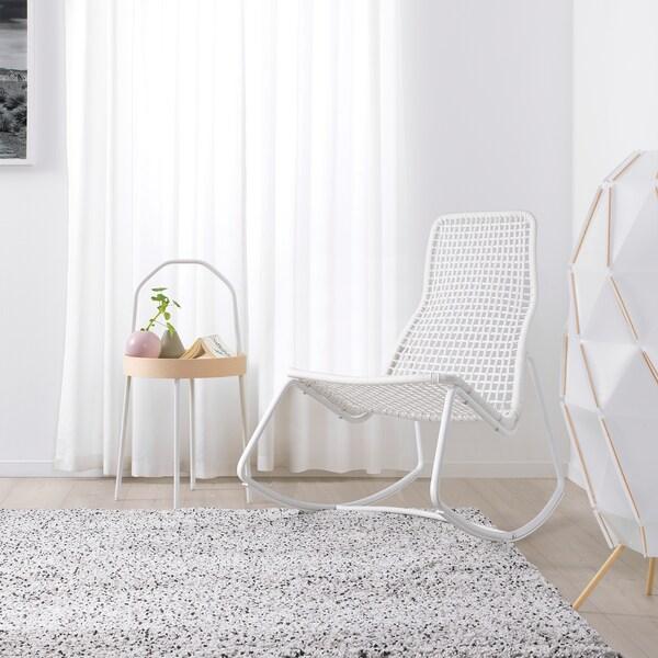 GUBBÖN Rocking-chair, in/outdoor, white