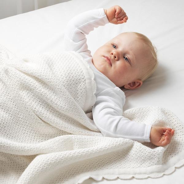 GULSPARV Blanket, white, 70x90 cm