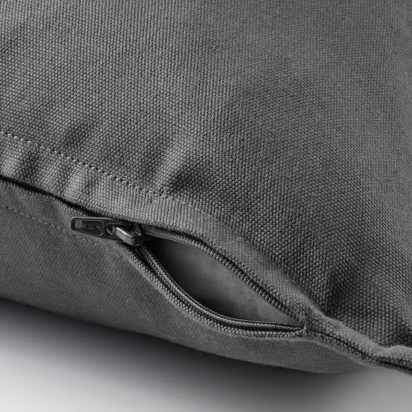 GURLI غطاء وسادة, رمادي غامق, 50x50 سم