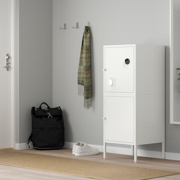 HÄLLAN تشكيلة تخزين مع أبواب, أبيض, 45x47x117 سم