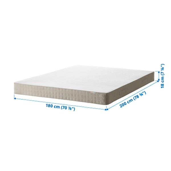 HAFSLO Sprung mattress, firm/beige, 180x200 cm
