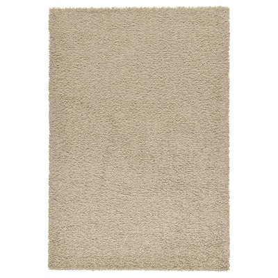 HAMPEN Rug, high pile, beige, 160x230 cm