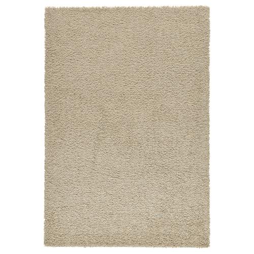 HAMPEN rug, high pile beige 195 cm 133 cm 2.59 m² 2050 g/m² 750 g/m² 8 mm 30 mm