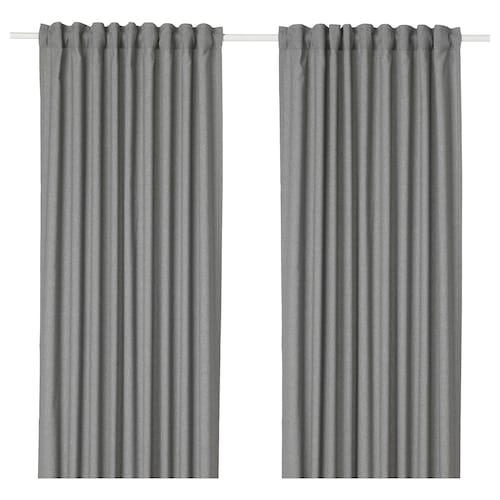 HANNALENA room darkening curtains, 1 pair grey 300 cm 145 cm 1.87 kg 4.35 m² 2 pack