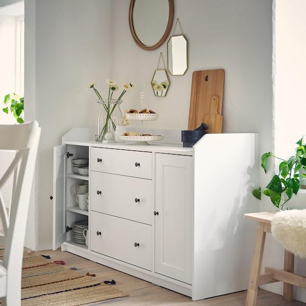 HAUGA Sideboard, white, 140x84 cm