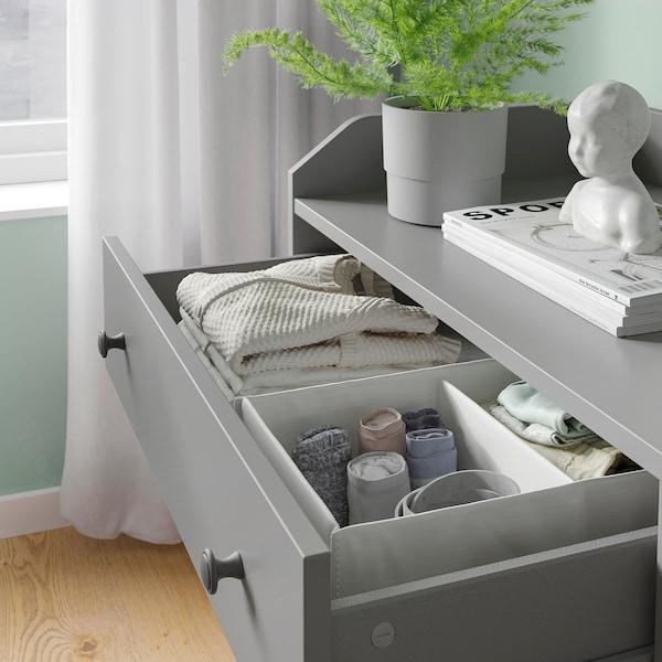 HAUGA Storage combination, grey, 208x116 cm