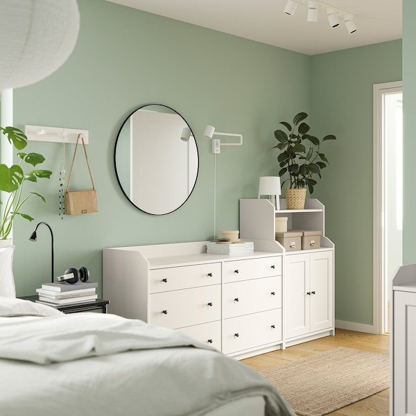 HAUGA Storage combination, white, 208x116 cm