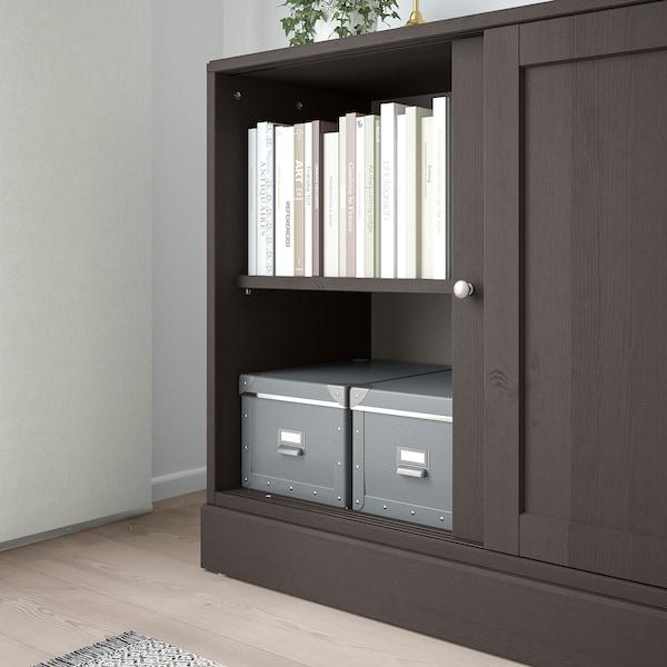 HAVSTA Cabinet with plinth, dark brown, 121x47x89 cm