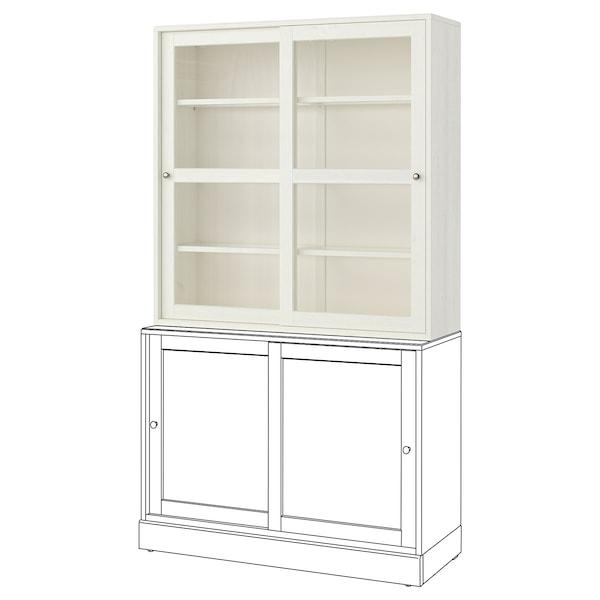 HAVSTA glass-door cabinet white 121 cm 35 cm 123 cm 32 kg