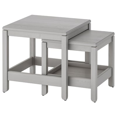 HAVSTA Nest of tables, set of 2, grey