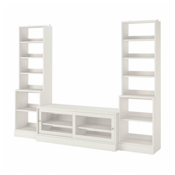 HAVSTA TV storage combination, white, 282x47x212 cm