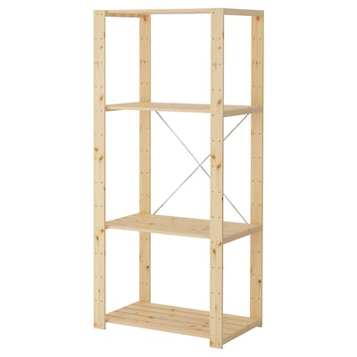 HEJNE 1 section, softwood, 78x50x171 cm