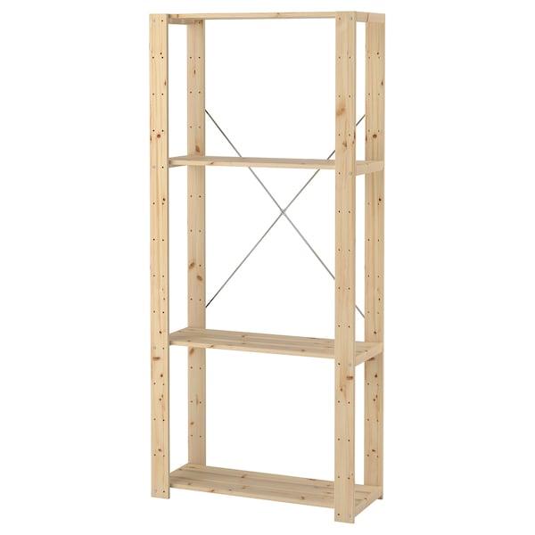 HEJNE 1 قسم, خشب ناعم, 78x31x171 سم