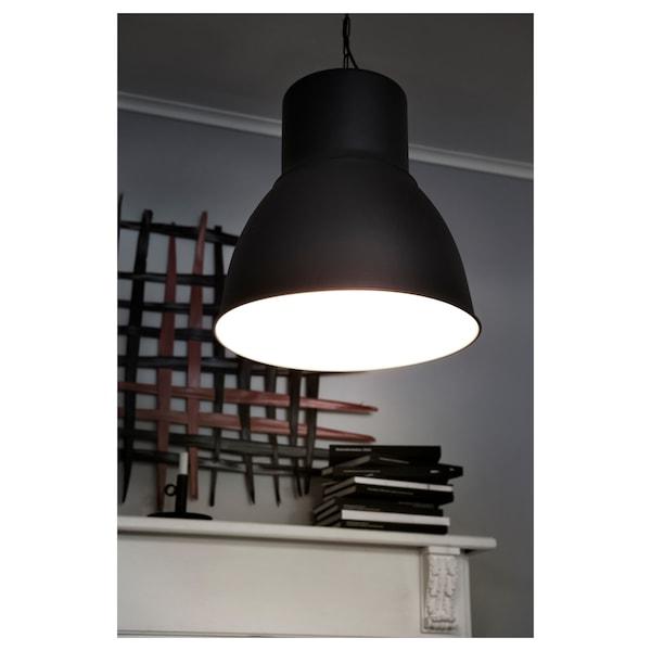 HEKTAR Pendant lamp, dark grey, 47 cm