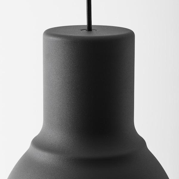 HEKTAR مصباح معلّق, رمادي غامق, 22 سم