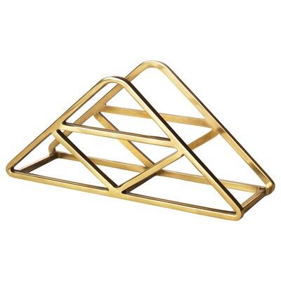 HEMMAFEST Napkin holder, gold-colour
