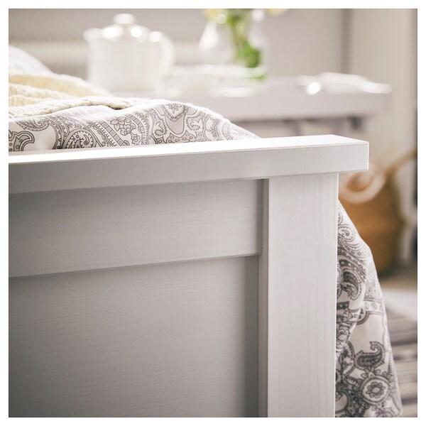 HEMNES Bed frame, white stain, 90x200 cm