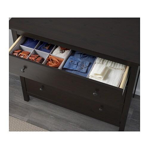 Hemnes chest of 3 drawers black brown ikea - Ikea schubladen organizer ...