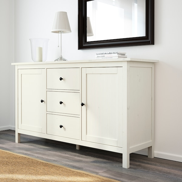 HEMNES Sideboard, white stain, 157x88 cm