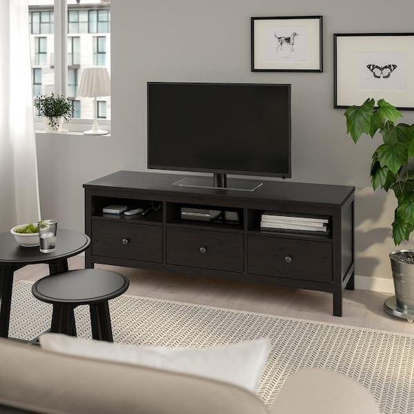 HEMNES TV bench, black-brown, 148x47x57 cm