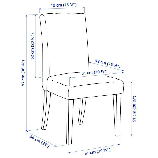 HENRIKSDAL Chair frame, dark brown