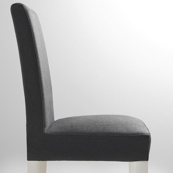 HENRIKSDAL كرسي, أبيض/Dansbo رمادي غامق