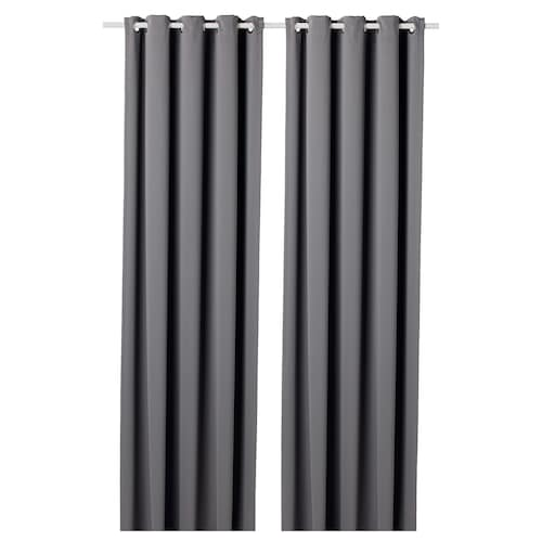 IKEA HILLEBORG Block-out curtains, 1 pair