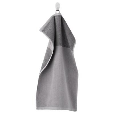 HIMLEÅN Hand towel, dark grey/mélange, 40x70 cm