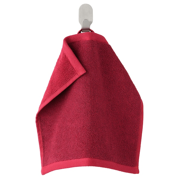 HIMLEÅN Washcloth, dark red/mélange, 30x30 cm
