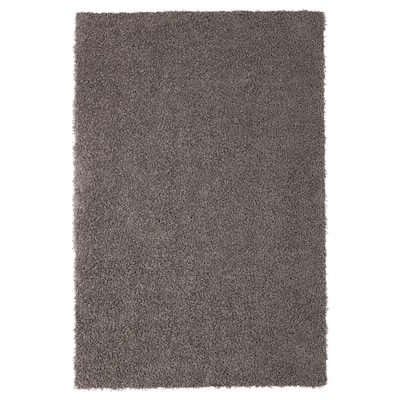 HÖJERUP Rug, high pile, grey-brown, 120x180 cm