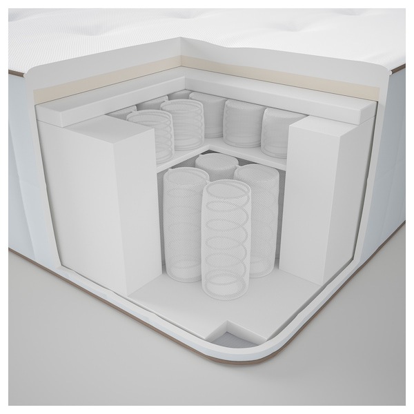 HOKKÅSEN pocket sprung mattress firm/white 200 cm 140 cm 31 cm