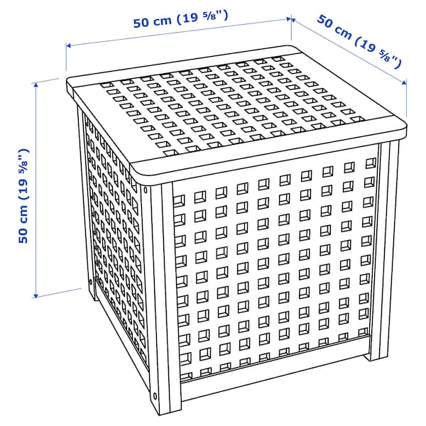 HOL side table acacia 50 cm 50 cm 50 cm