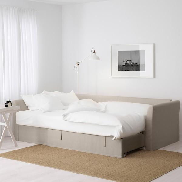 HOLMSUND كنبة-سرير زاوية, Nordvalla بيج