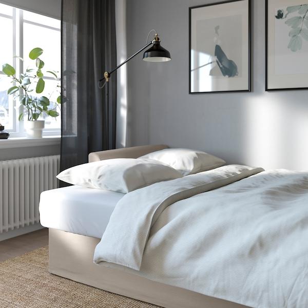 HOLMSUND كنبة - سرير ثلاث مقاعد, Nordvalla بيج