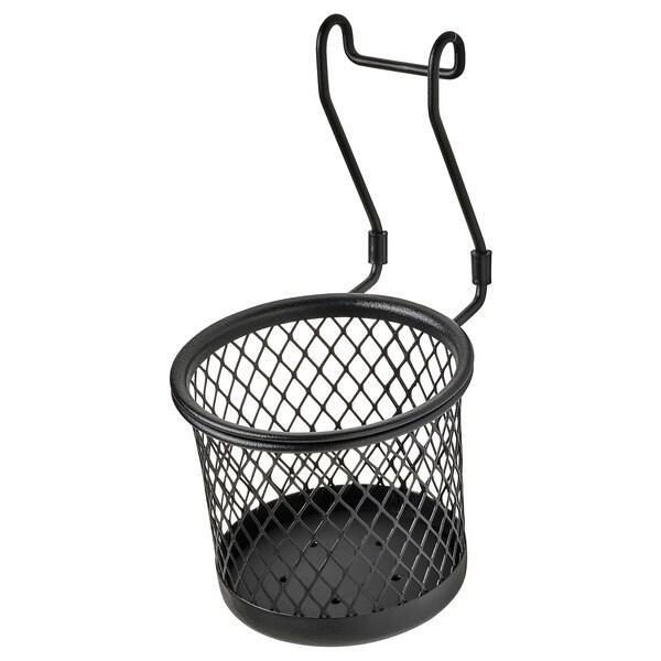 HULTARP Container, black/mesh, 14x16 cm