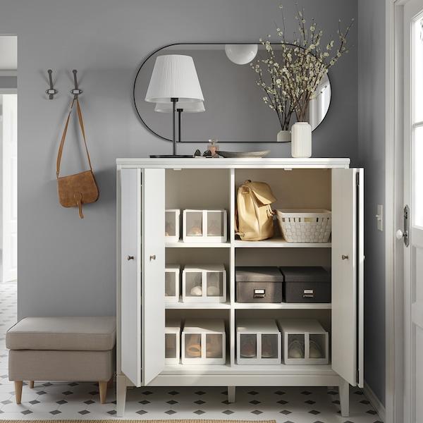 IDANÄS Cabinet with bi-folding doors, white, 121x135 cm