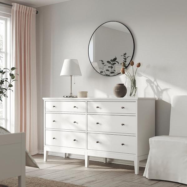 IDANÄS Chest of 6 drawers, white, 162x95 cm