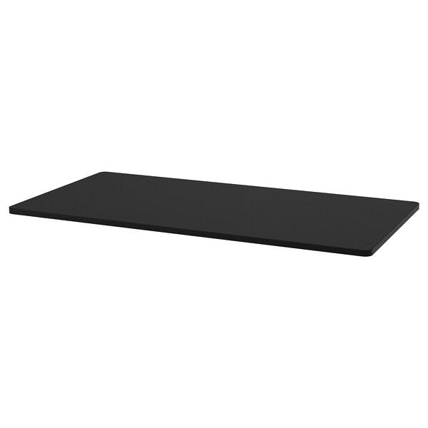 IDÅSEN Table top, black, 140x70 cm