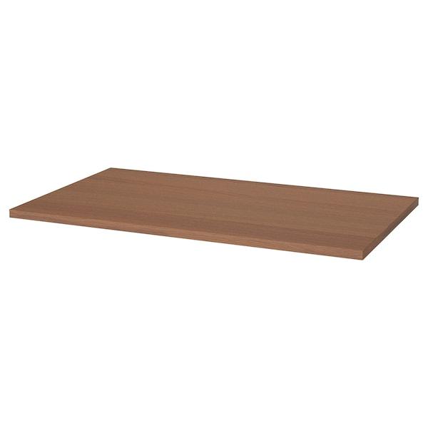 IDÅSEN Table top, brown, 120x70 cm